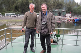 Wolfgang and Dr. Carston in Guilin
